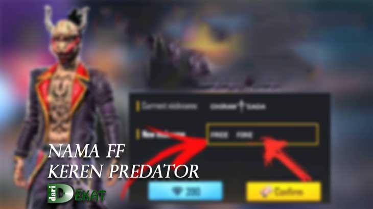nama ff keren predator